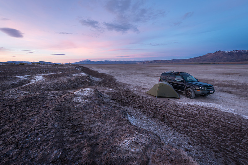 Camping on Alvord Desert in Oregon