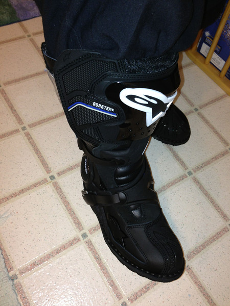 The everything Toucan boot from Alpinestars,  a little extra Velcro does the trick!