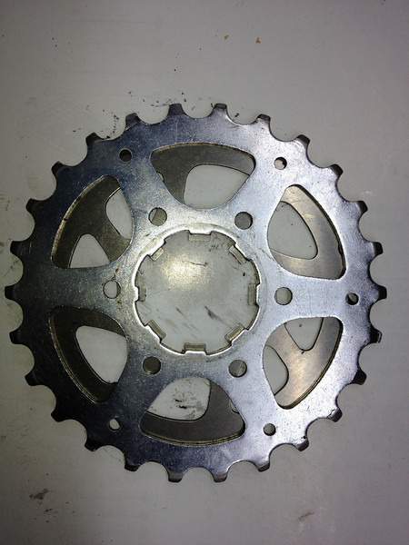 9 speed on the bottom, 8 speed on the top