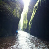Exploring the Oneonta Gorge, Oregon