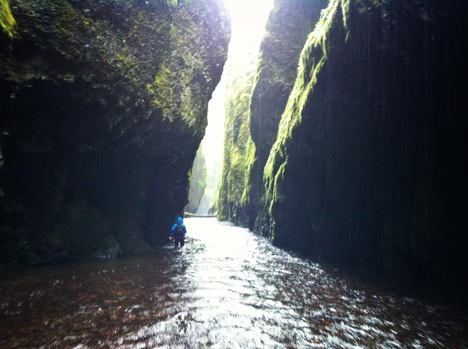 Exploring the Oneonta Gorge, Oregon
