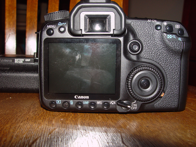 Canon 40D body, 7th on list back