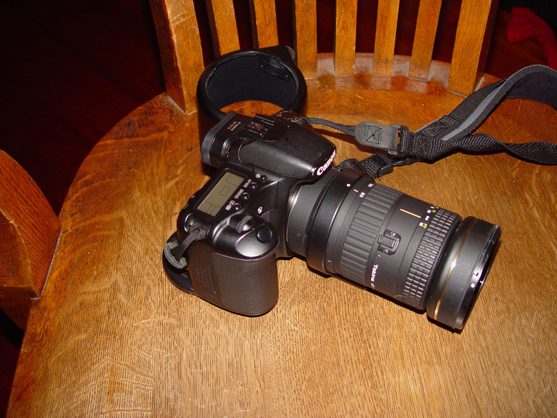 Tokina 80-400 lens and Canon 30D camera body, 1st and last items on the list