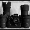 Nikon F4 with Sigma 24-70mm f/2.8 EX DG, Sigma 50-500mm f/4-6.3 EX DG APO HSM, AF Nikkor 50mm f/1.8D, Sigma 70-200mm f/2.8 EX APO HSM and Sigma 15-30mm f.3.5-4.5 EX DG.
