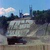 Lake Placid Ski Jump under construction.  Camera Scanned with Canon 60D