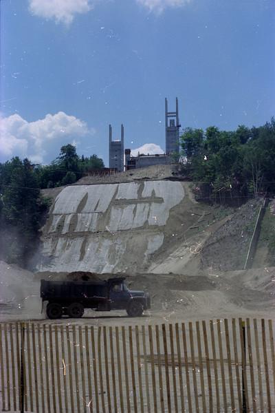 Lake Placid Ski Jump under construction.  Scanned with Plustek 7600i at 3600 PPI