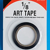 "I used Art tape (which appears to be black electrician's tape cut so it is 1/8"" wide.)  I got the Art Tape at Staples."
