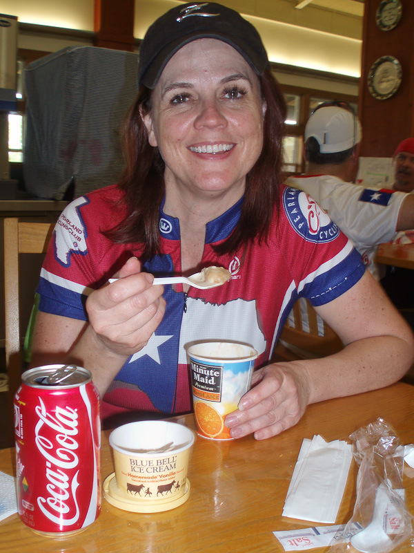 The best thing at the end of the ride is a Blue Bell and Coke float!