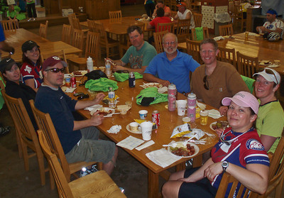The ride included a BBQ and beer lunch, it was great. The camp facilities are top notch.