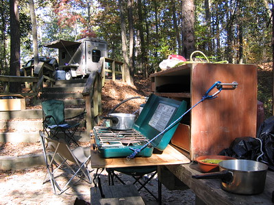 Camp Kitchen and trailer