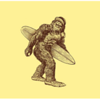 I just love this bigfoot with a surfboard