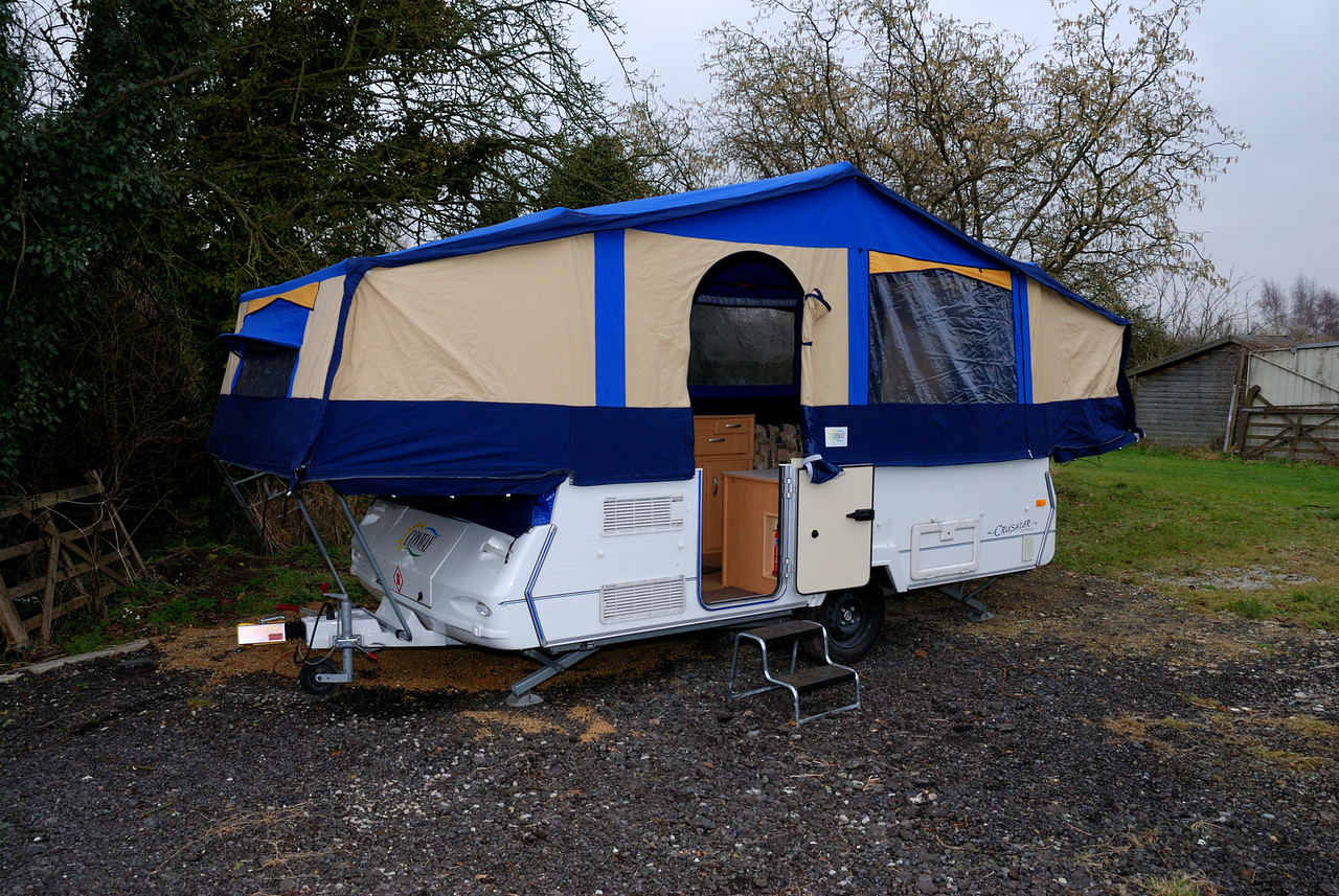 Camper fully erected