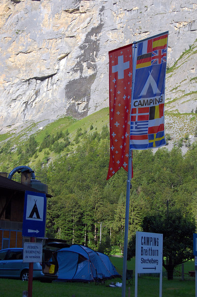 Lauterbrunnen, Switzerland campsite entrance