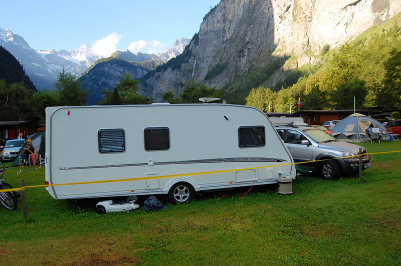Most trailers are pulled with a station wagon or small SUV.