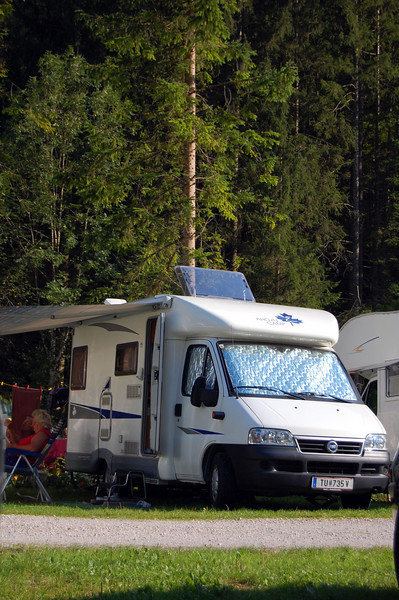 Typical RV throughout Europe. It would compare to a large van or small camper in the U.S.
