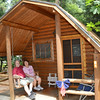 Ron and Margaret St-Laurent, of Leominster, have been camping at the Minuteman Campground in Littleton for about eight years. SENTINEL & ENTERPRISE / Ashley Green