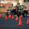 "Driving an obstacle is harder than you think when you are wearing the ""drunk goggles"" that simulate alcohol impairment."