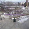 View of campus from the library, 2005