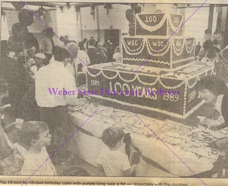 1989 Centennial Cake