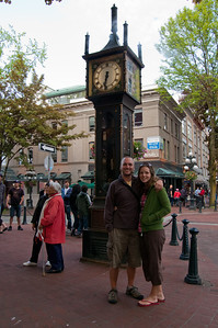 Taking a stroll in Gastown, a historic area of Vancouver.