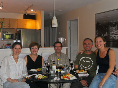 Laura's lovely parents, Cristina and Jorge, come round for dinner.