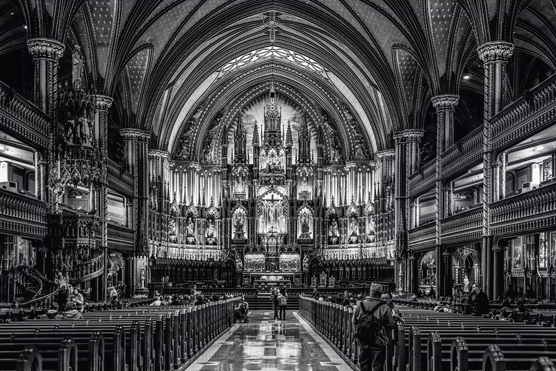 la Basilique Notre-Dame de Montreal