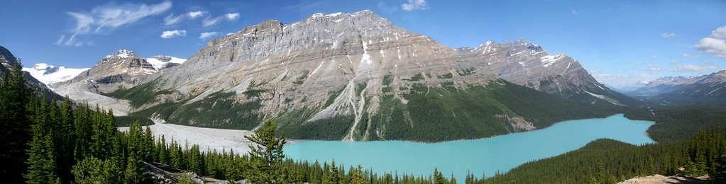 Peyto Lake Panorama Alberta, Canada