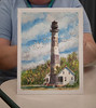 Beautiful lighthouse print was raffeled at the event.