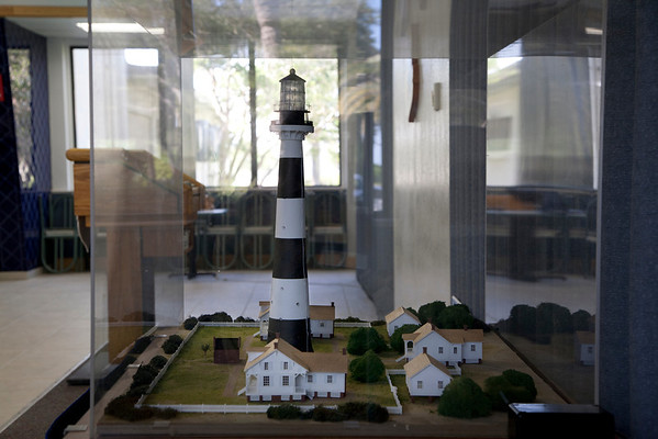 Cape Canaveral Lighthouse with Keeper's Cottages Diorama in its protective cover.