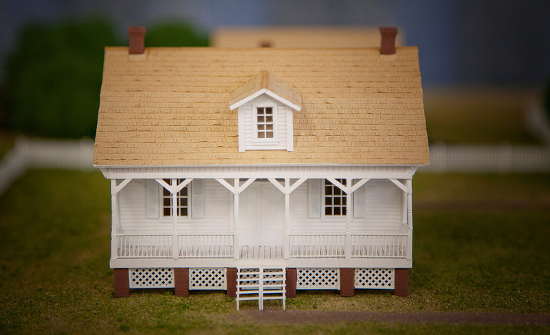Close up of a Keeper's Cottage rendering.