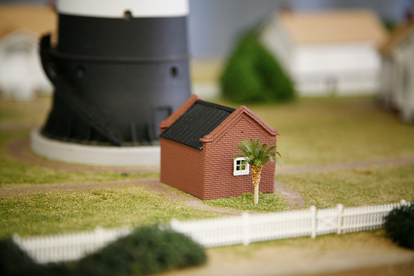 The little old oil house portion of the diorama.