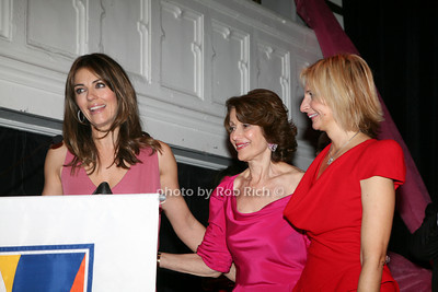 Elizabeth  Hurley, Evelyn H. Lauder, Marisa Acocella Marchetto photo by R.Cole for   Rob Rich © 2009 robwayne1@aol.com 516-676-3939