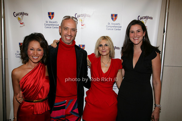 Alina Cho, Robert Verdi, Marisa Acocella Marchetto,  Lydia Wickliffe Fenet<br /> photo by R.Cole for   Rob Rich © 2009 robwayne1@aol.com 516-676-3939
