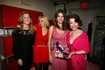 Kelly Dimento, Marisa Acocella Marchetto, Elizabeth Hurley, Evelyn H. Lauder  photo by R.Cole for   Rob Rich © 2009 robwayne1@aol.com 516-676-3939