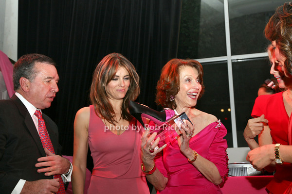 Elizabeth  Hurley, Evelyn H. Lauder, Marisa Acocella Marchetto photo by R.Cole for   Rob Rich © 2009 robwayne1@aol.com 516-676-3939