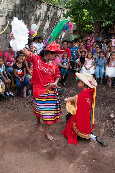 Maria Celeste doing traditional folkoric dance.