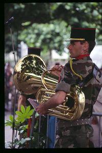 French Army Band member, July 14th Celebration, Strasbourg, France