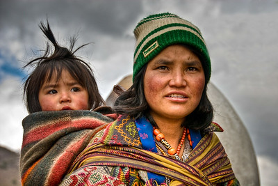 Mother and Child, Trongsahdr, Bhutan 2010 - 12x18, $145