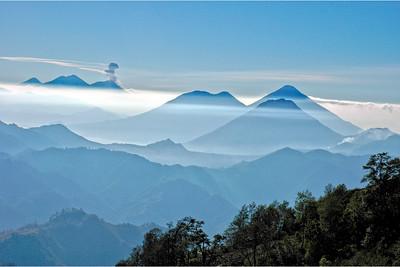 Volcanoes, Guatemala 2005 - 12x18, $145