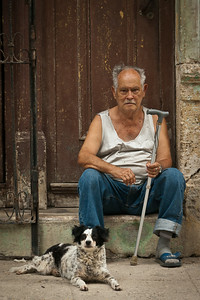 Man with Dog, Old Town, Havana 2011 - 12x18, $145