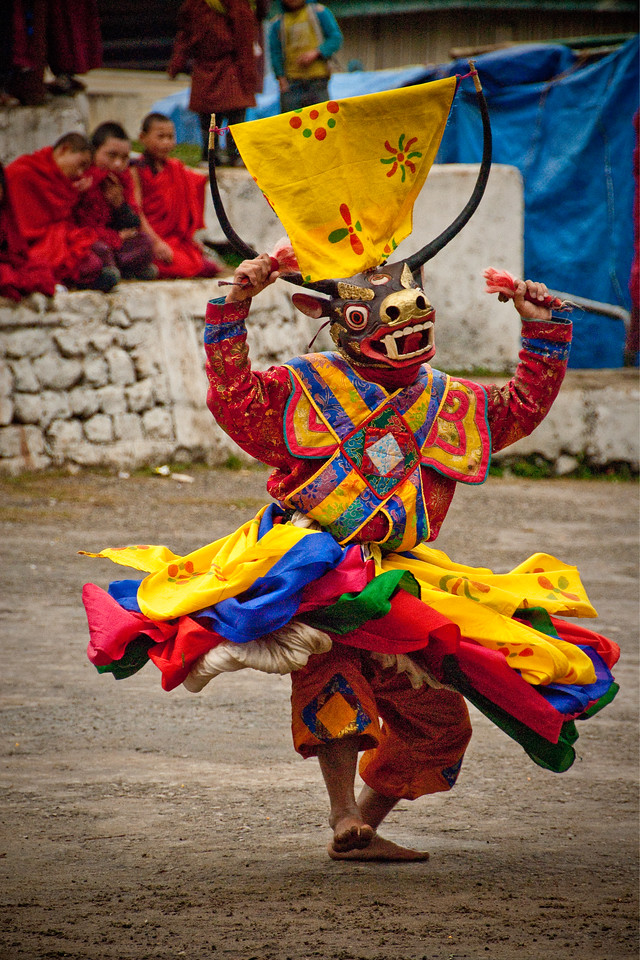 Dancer, Chhukha Festival, Bhutan 2010 - 12x18, $145