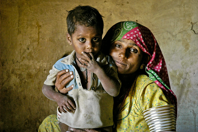 Mother and Son, Rajasthan, India 2004 - 12x18, $145