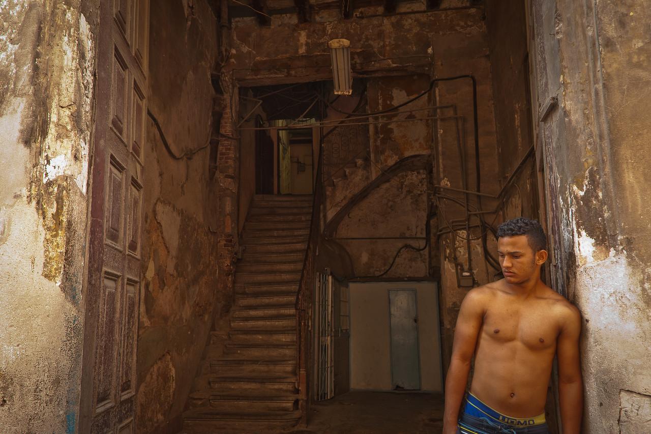 Topless Man, Havana, Old Town - 12x18, $145