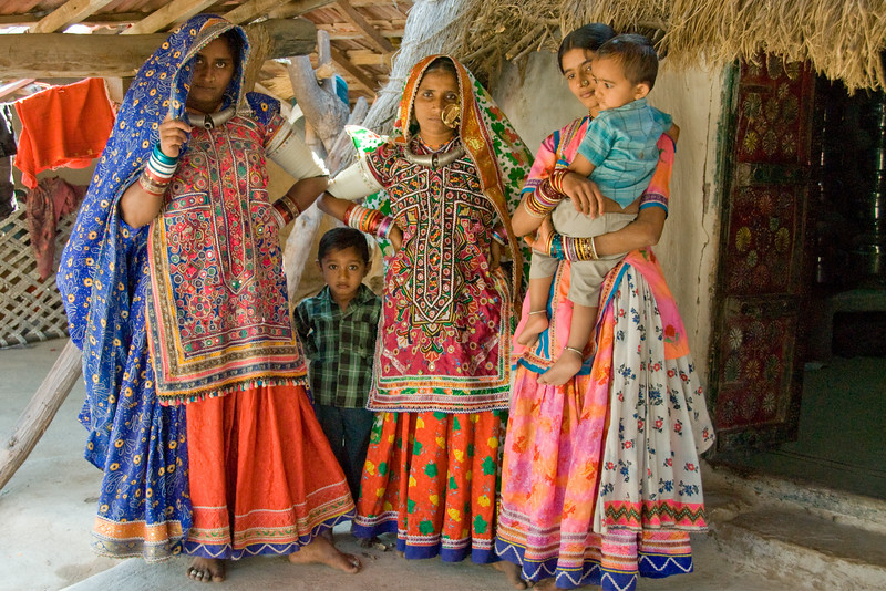 Traditional Dress,  Rann of Kachchh, Gudjarat, India - 12x18, $145