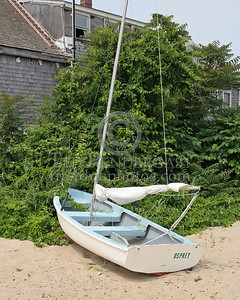 Sailboat Osprey On A Beach - Provincetown,Mass. - July 8,2006