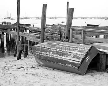 Rowboat And Old Pier - Provincetown Harbor - July 8,2006