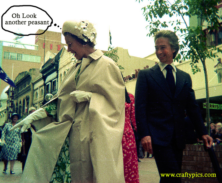 One of the first photos I ever took with my Kodak Instamatic. Queen Elizabeth II with Premiere Don Dunstan on their visit to Adelaide