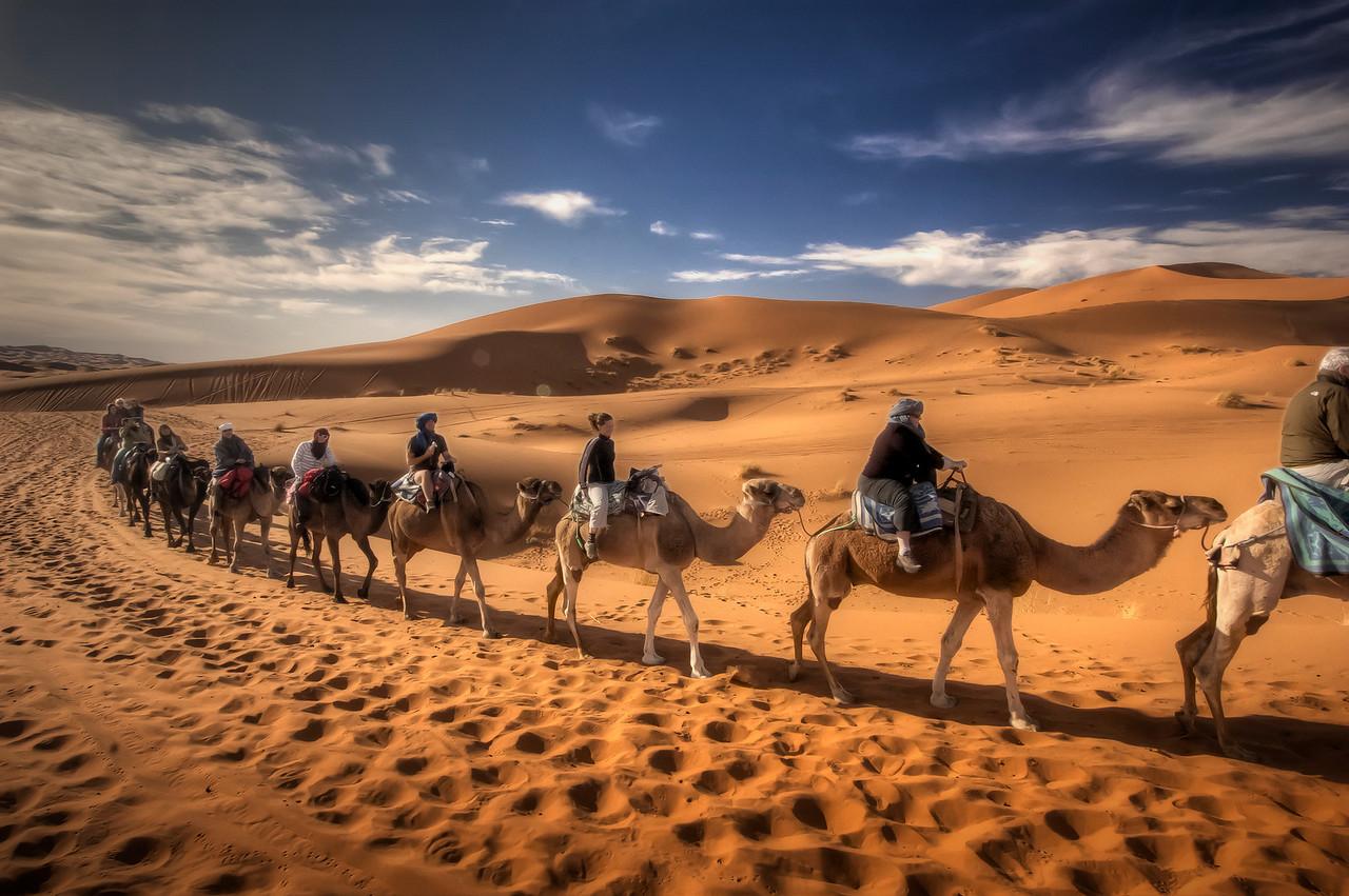 <center>Tourist caravan, Morocco HDR. Photography by Carol & Bobby Long.</center>
