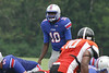 Cardale Jones #10 looks over the defense in a 2011 game versus Hargrave Military Academy.