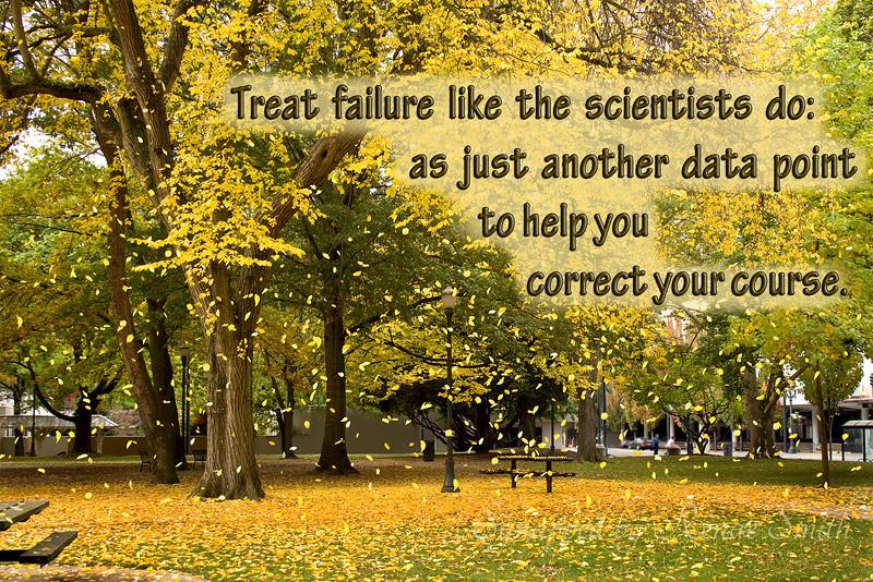 Treat failure like the scientists do...